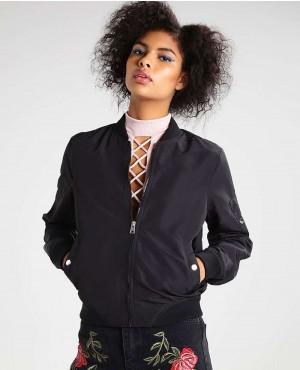 Women Personalization Style Bomber Jacket black