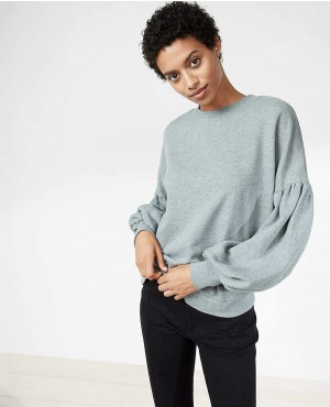 Women Puff Sleeve Sweatshirt