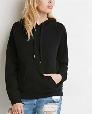 Women Pullover Black Hoodie