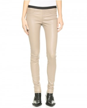 Women Sharp Fit Leather Pant