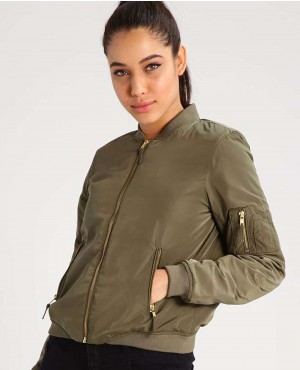 Women Short Body Bomber Jacket