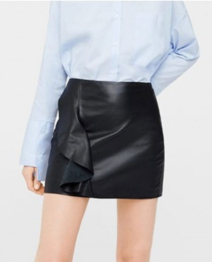 Women Style Mini Leather Skirt Wholesale