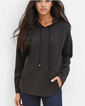 Women Stylish Black Pullover Hoodie