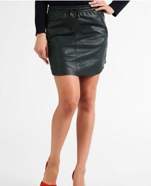 Women Stylish Leather Skirt