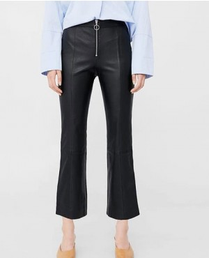 Women Stylish Office Wear Leather Pants