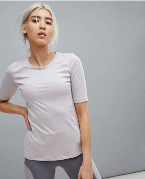 Women Training Grey T Shirt