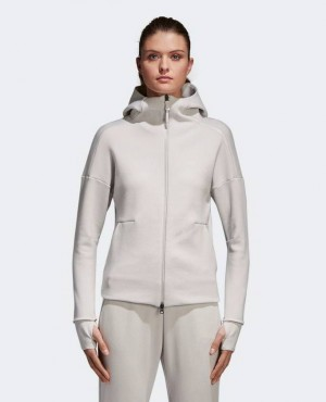 Women Trendy Hoodie In White Color With Low MOQ