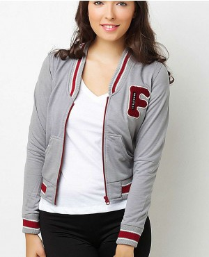 Women Varsity Jacket with Custom Chenille Patch
