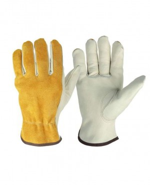 Work Gloves Two Layer Cowhide Leather