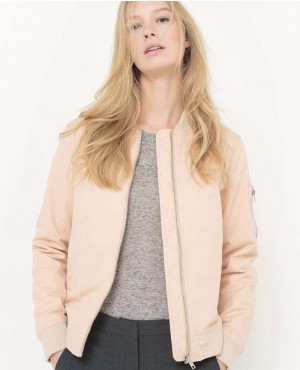 Zipped Nude Colors Custom Bomber Jacket