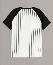 Baseball-Shirt-With-Custom-Chenille-Logo-Black-&-White-Striped-RO-101-19-(1)