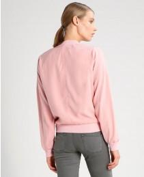 Wholesale Girls Light Pink Varsity Short Jacket RO 103003 (1)