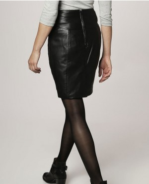 All-Black-Genuine-Leather-Skirt-RO-102702-(2)