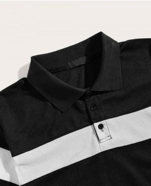 Black-&-White-Contrast-Panel-Polo-Shirt-RO-176-19-(1)