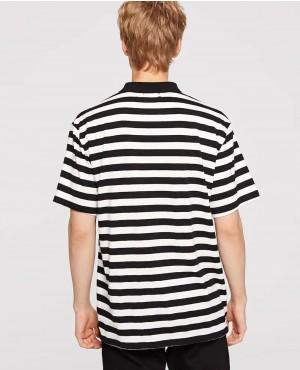 Black-&-White-Two-Tone-Striped-Polo-Shirt-RO-188-19-(1)