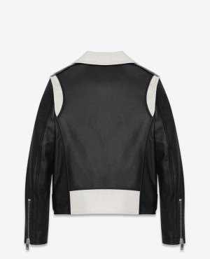 Black-And-White-Bomber-Style-Leather-Jacket-RO-102312-(1)