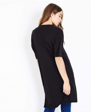 Black-Side-Split-Longline-T-Shirt-RO-2477-20-(1)