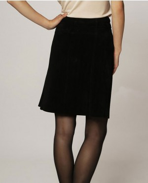 Black-Stylish-Suede-Skirt-RO-102704-(1)