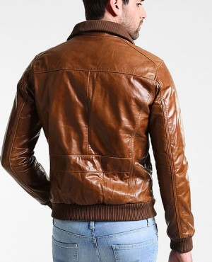 Brown-Genuine-Leather-Jacket-Men-for-Bikers-Racer-Vintage-Motorcycle-Ja-(2)