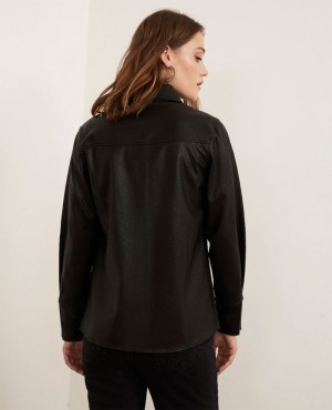 Custom-Branded-Buttoned-Faux-Leather-Women-Sexy-Shirt-RO-3832-20-(1)