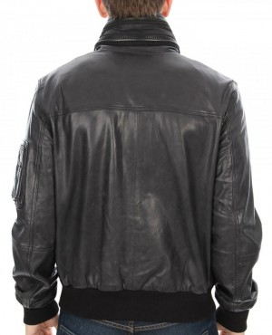Custom-Design-Genuine-Leather-Bomber-Satin-Interior-Zipper-Front-Welt-Pocket-Mens-Leather-J-(3)