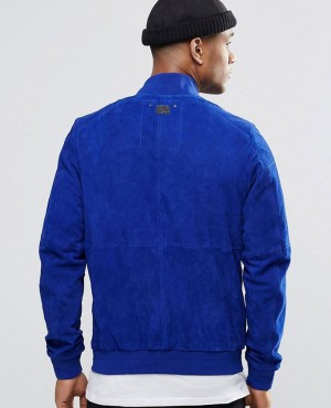 Custom-High-Quality-Royal-Blue-Suede-Bomber-Jacket-RO-102384-(1)
