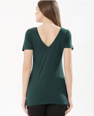 Deep-V-neck-Back-Longline-T-Shirt-RO-2498-20-(1)