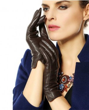 Elegant-Women-Genuine-Lambskin-Leather-Gloves-Hig-(4)