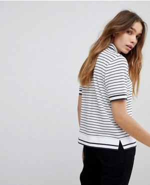 Fashionable-Women-Polo-Shirt-With-Black-Stripped-RO-2600-20-(1)