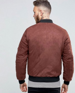 Faux-Suede-Bomber-with-Patch-Pocket-In-Burgundy-RO-102318-(1)