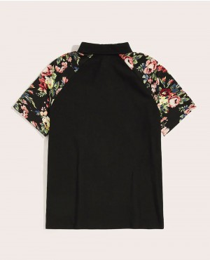 Flower-Painted-Raglan-Sleeve-Polo-Shirt-RO-179-19-(1)