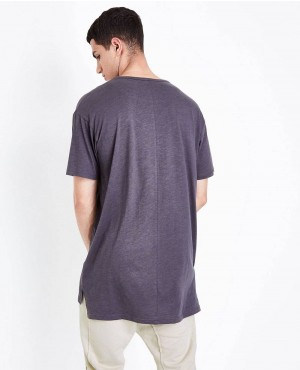 Grey-Split-Hem-Longline-T-Shirt-RO-103445-(1)