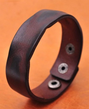 Handmade-Distressed-Genuine-Leather-Bracelet-Cuff-Wristband-Brown-Men-RO-3834-20-(1)