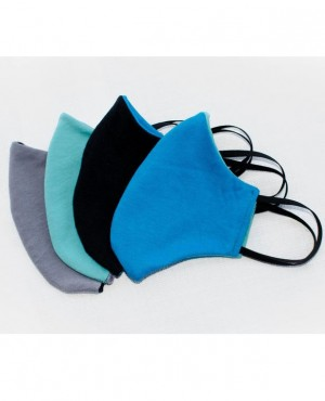 High Quality Cotton Face Mask Washable Reusable with Black Elastic Ear Loops 4  Assorted Colors RO-3882-20
