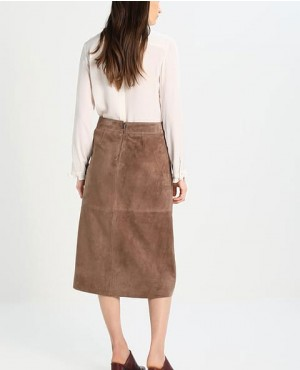 High-Quality-Suede-Leather-Skirt-Beige-RO-3767-20-(1)