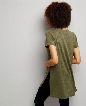 Hot-Selling-Women-Khaki-Split-Side-Longline-T-Shirt-RO-2574-20-(1)