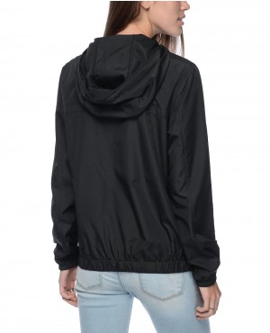 Jacquard-Drawstring-Black-Pullover-Windbreaker-Jacket-RO-102892-(1)