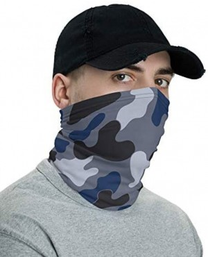 Jungle Blue & Black Camo Neck Gaiter Washable and Reuseable  Face Mask RO-3885-20