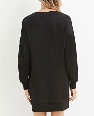 Ladies-Elongated-Sweatshirt-with-Sleeve-Pocket-RO-10191-(1)