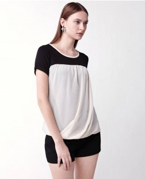 Ladies-Two-Tone-Stylish-T-Shirt-RO-102126-(1)