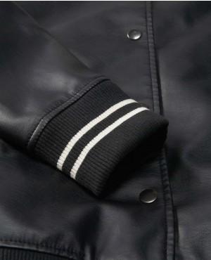 Ladies PU Leather Custom Varsity Jacket RO 787 (1)