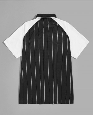 Letter-Patched-Vertical-Striped-Baseball-Two-Tone-Polo-Shirt-RO-180-19-(1)