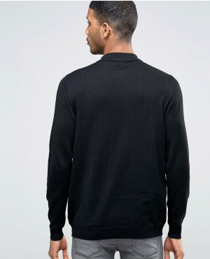 Long-Sleeve-Knitted-Polo-Shirt-In-Black-RO-102543-(1)