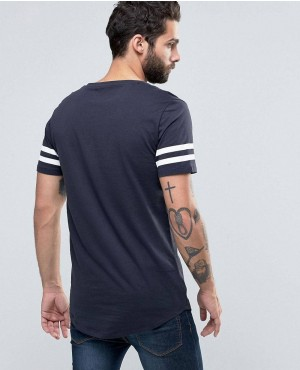 Longline-T-shirt-with-Arm-Stripes-and-Curved-Hem-RO-102141-(1)