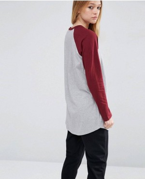 Longline-T-Shirt-With-Contrast-Sleeve-RO-102176-(1)