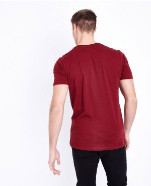 Maroon-Short-Sleeves-Muscles-Gym-Fit-T-Shirt-RO-2150-20-(1)