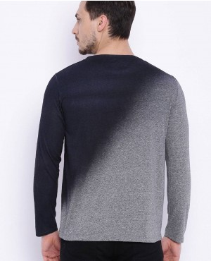 Men-Grey-Melange-And-Black-Dyed-Round-Neck-T-Shirt-RO-2152-20-(1)