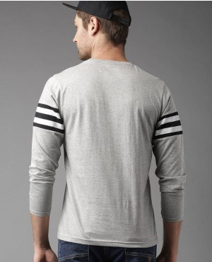 Men-Grey-Melange-Solid-T-Shirt-With-Front-Pocket-And-Sleeves-Stripes-RO-2153-20-(1)
