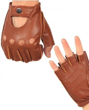 Men-Half-Finger-Real-Leather-Gloves-Driving-Unlined-Sheepskin-RO-2386-20-(1)