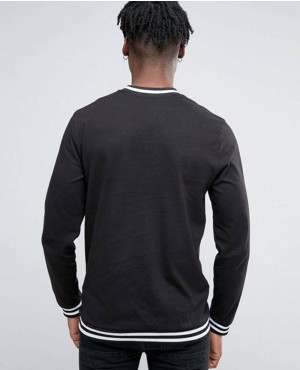 Men-Long-Sleeve-Top-In-Black-With-Stripe-Detail-T-Shirt-RO-103455-(1)